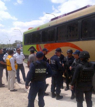 INFLAN EL PADRÓN ELECTORAL: Detienen a 3 autobuses con yucatecos en camino a registrarse en el IFE de Cancún y la PEP de Borge, al mando del propio General Bibiano Villa, los 'rescata'