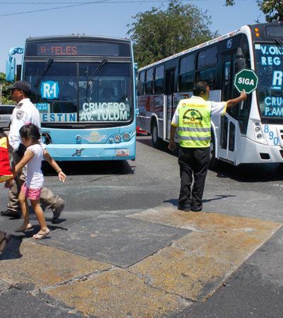 FOTOS: Educación vial en Cancún… a fuerzas