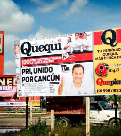 PROTEGEN A PAUL CARRILLO: Desecha Teqroo 3 juicios de inconformidad del PRD contra el Ieqroo por propaganda encubierta