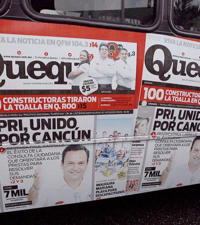 """Dice Paul Carrillo que toda la publicidad encubierta con su imagen en Cancún es """"sin su permiso"""""""