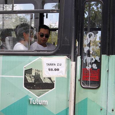 EXHIBE BORGE INTROMISIÓN EN BJ: Difunde Unidad del Vocero que ADO no prestará servicio de transporte gratuito a cancunenses