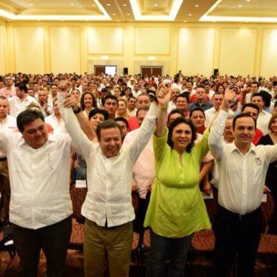 """Aspira PRI a recuperar los 5 municipios en manos de la oposición en QR; niega Ivonne Ortega acarreo de yucatecos a Cancún y dice: """"Yo no tengo nada que ver…"""""""