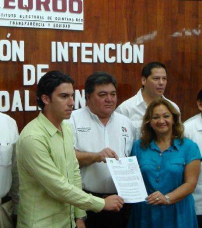 Entregan al Ieqroo propuesta de alianza PRI-PVEM-Panal