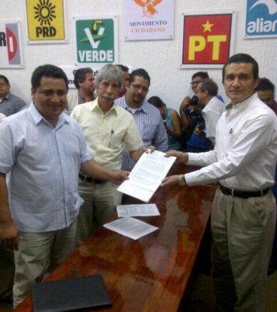 Formalizan PRD y PAN coalición en QR