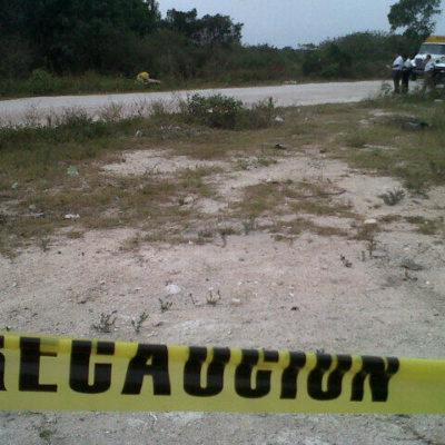 Con el tiro de gracia, aparece hombre en Puerto Morelos; sería el ejecutado número 20 del 2013