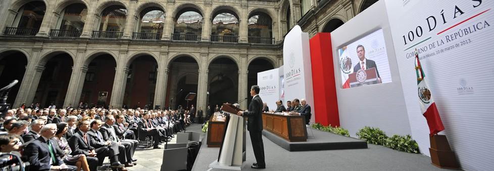 """Presenta Peña 'mini informe' a 100 días de gobierno y dice: 'transformo al país, no lo administro"""""""