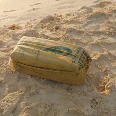 Recala paquete con 25 kilos de cocaína en Playa del Carmen, por el muelle de Ultramar