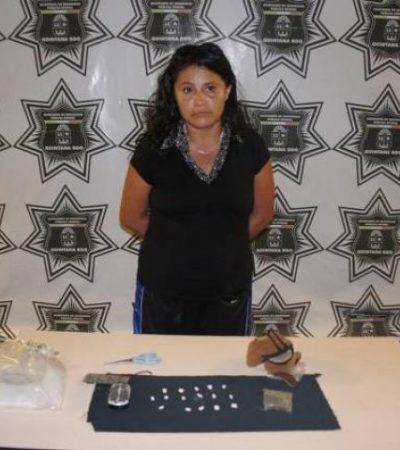 Detienen a mujer narcomenudista en Cancún