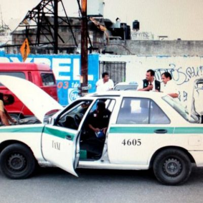 Buscan judiciales taxis clonados o con reporte de robo en Cancún