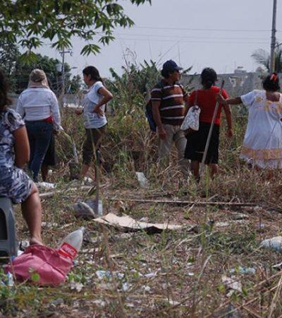 Invaden terreno de la CFE en Chetumal