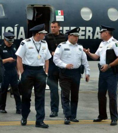 Llega a Cancún alto funcionario de la Policía Federal
