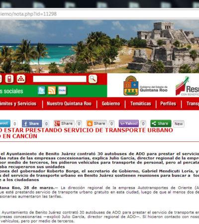 Exhibe PRD al Gobernador por operar alzas ilegales al pasaje y bloquear opción de transporte gratuito para cancunenses