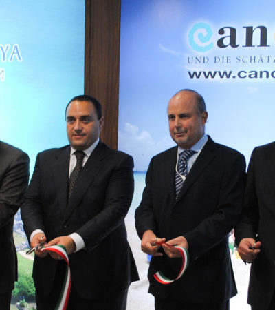 Inaugura Borge pabellón en feria turística de Berlín y anuncia nuevos vuelos a Cancún