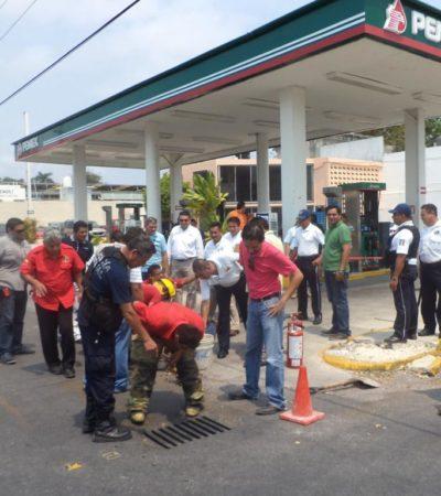 Exigirán reubicación de gasolinera bajo sospecha por derrame de combustible en Chetumal