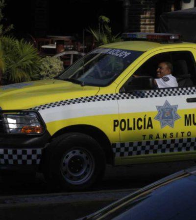 FOTOGALERÍA: Policías de Tránsito de Cancún piden su 'itacate'