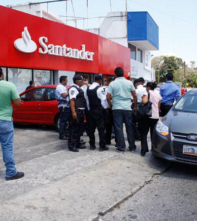 """Asaltan en Cancún a empleado de notaría bajo la modalidad del """"paquetazo"""""""