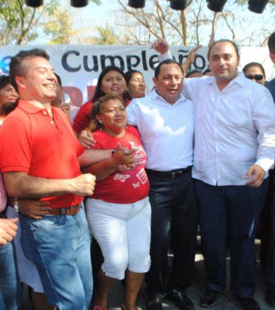 CANCÚN, ENSANGRENTADO… Y BORGE EN 'EL PALOMAR': Arropa la 'mafia del poder' a Mauricio en su fiesta de 'destape' para candidatura priista en Solidaridad