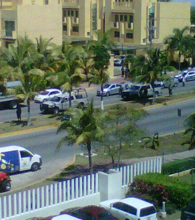 BALACERA EN LA BONAMPAK: Disparan contra complejo de condominios frente al Hospiten de Cancún; no hay víctimas: detienen a 2 presuntos involucrados