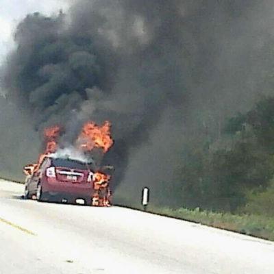 Denuncian presunto atentado contra Heriberto Millar, uno de los directores del Diario Respuesta; se incendió su vehículo