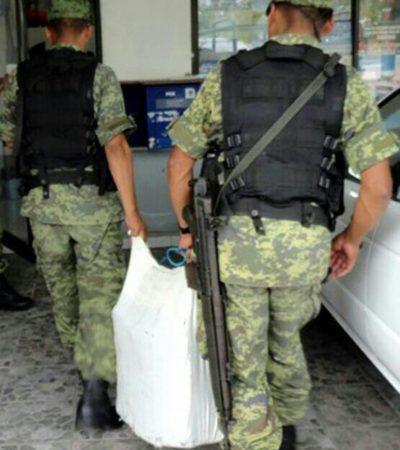NUEVO RECALE DE DROGA EN COZUMEL: Hallan 24 kilos de marihuana en las cercanías de playa 'Mezcalitos'