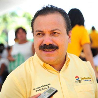 Julián Ricalde se quedará hasta el final en la presidencia municipal de BJ