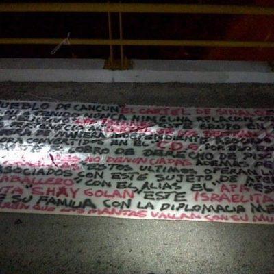 Anticipan con narcomanta recrudecimiento de la violencia en Cancún