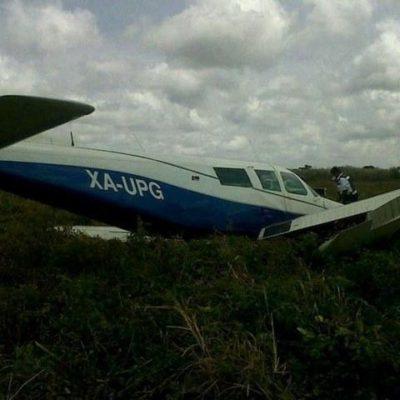 ACCIDENTE AÉREO: Aterriza de emergencia avioneta de 'Maya Air' en aeropuerto de Cancún