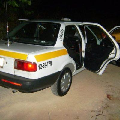 Asesinan a taxista en la colonia Pacto Obrero de Chetumal