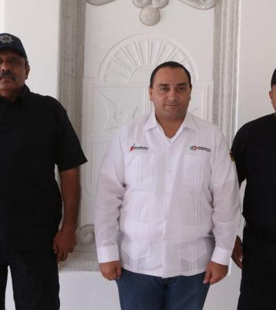 Ante Bibiano Villa y en privado, Borge da posesión a Martín Estrada Sánchez como nuevo subsecretario de Seguridad Pública en la Zona Norte de QR