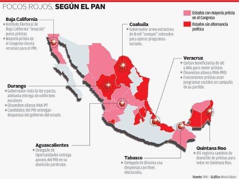 Acusa PAN injerencia a favor del PRI en 7 estados, incluyendo Quintana Roo