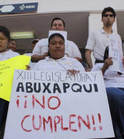 Protestan en Cancún contra Borge y el Congreso por no hacer justicia a personas con discapacidad en QR