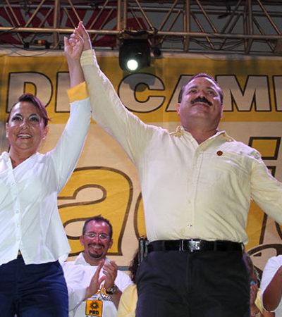 """""""Soplan vientos de consolidación de cambios"""", dice Zambrano al dar banderazo a campañas de la alianza de facto en QR"""