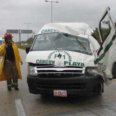 Nueve muertos y más de mil accidentes reporta Cancún en lo que va del año