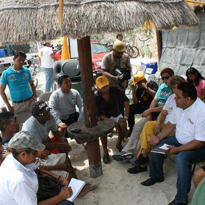 CAMPAÑAS: Cooperativistas de Playa del Carmen ofrecen respaldo a Orlando Muñoz y piden mejores condiciones de trabajo