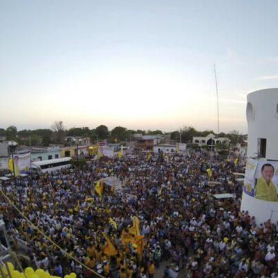 Muestra Andrés Flota 'músculo' en el inicio de campaña en José María Morelos