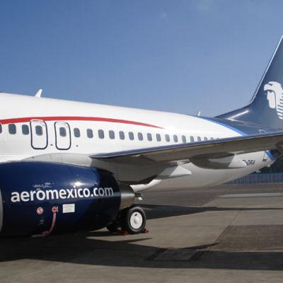 INCIDENTE AÉREO: Sufre percance vuelo 596 de Aeroméxico a pocos minutos de despegar de Cancún hacia el DF que obliga a regresar y aterrizar de emergencia