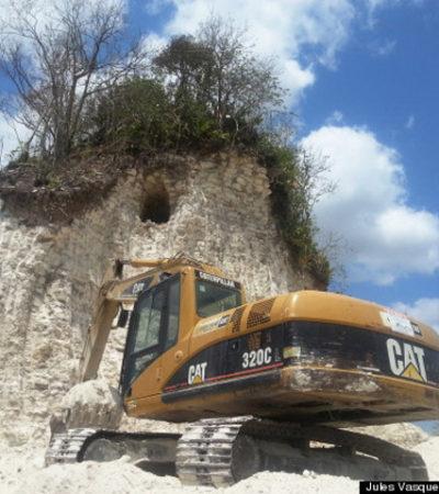 ESCÁNDALO CULTURAL EN BELICE: Destruyen piramide maya de 2,300 años para construir carretera