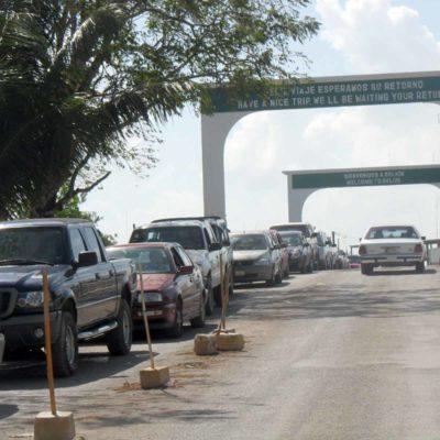 Reportan caída de exportaciones de Chetumal a Belice por cierre de la aduana de Subteniente López