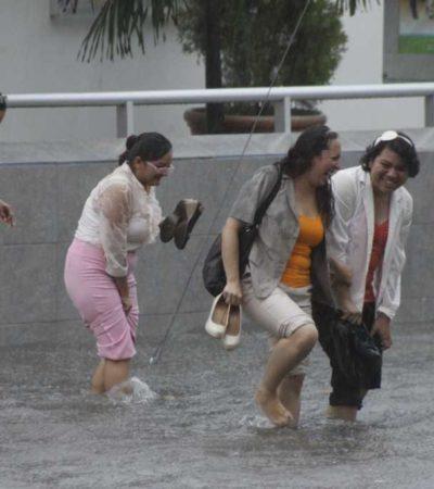 Prevén lluvias fuertes en Quintana Roo, Yucatán y Campeche por canal de baja presión y una nueva onda tropical