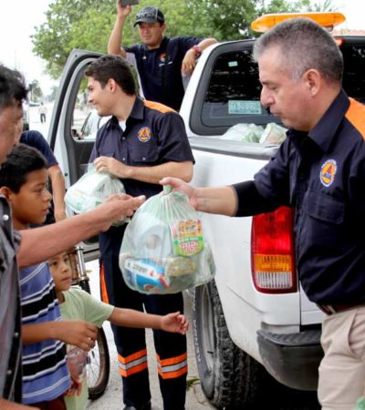 FOTOS: Entrega de despensas a afectados por lluvias, de forma institucional y sin propaganda o intención política: Alcalde