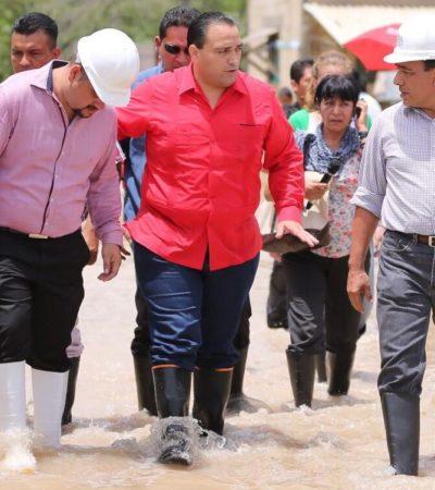 DAN A BORGE 'FONDEN ELECTORAL': Declara Segob 'zona de desastre' a 5 municipios del norte de QR por lluvias