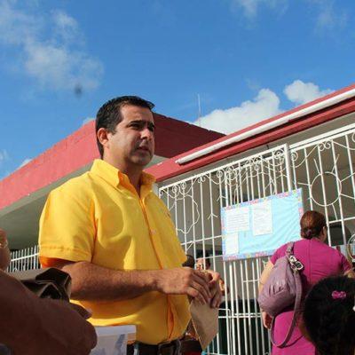 CAMPAÑAS: La nueva mayoría en el Congreso prohibirá pintar parques y escuelas con colores partidistas, promete Aguilar Osorio