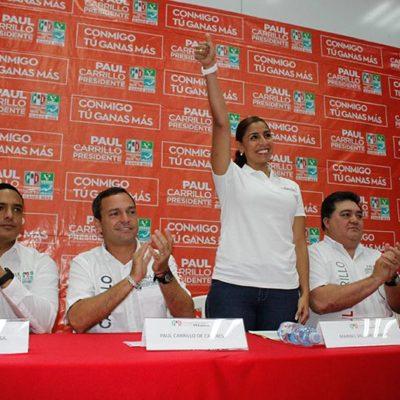 COMPLETA MARYBEL EL SALTO: Presentan a Villegas Canché como candidata externa de la alianza priista por el Distrito XV