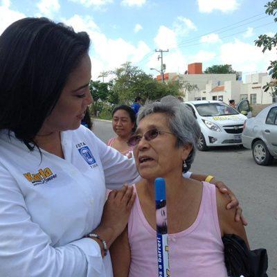 CAMPAÑAS: Gestionará Karla Romero pensiones para adultos mayores