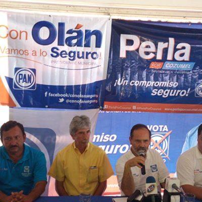 CAMPAÑAS: Respalda Gustavo Madero a candidatos en Cozumel, Roberto Olán y Perla Tun