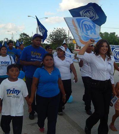 CAMPAÑAS: Recorre Trinidad García la comunidad de Leona Vicario y la Región 216 de Cancún