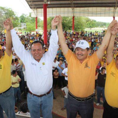 CAMPAÑAS: Constata líder nacional del PRD apoyo popular a Domingo Flota en JMM