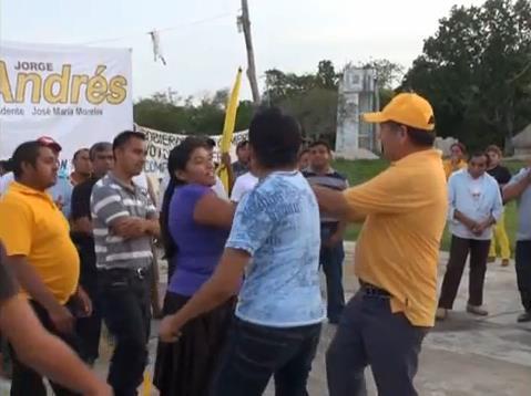 CALIENTAN ÁNIMOS POR ELECCIÓN: Agrede delegada priista a candidato Domingo Flota en JMM