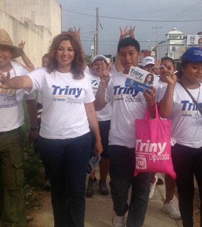 CAMPAÑAS: Respaldan propuestas de Trinidad García en las regiones 215 y 224
