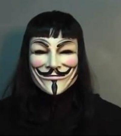 Da 'Anonymous' ultimátum a Borge por manipulación electoral en Quintana Roo